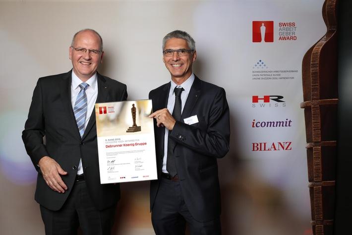 Debrunner Koenig Gruppe holt 3. Platz beim Swiss Arbeitgeber Award