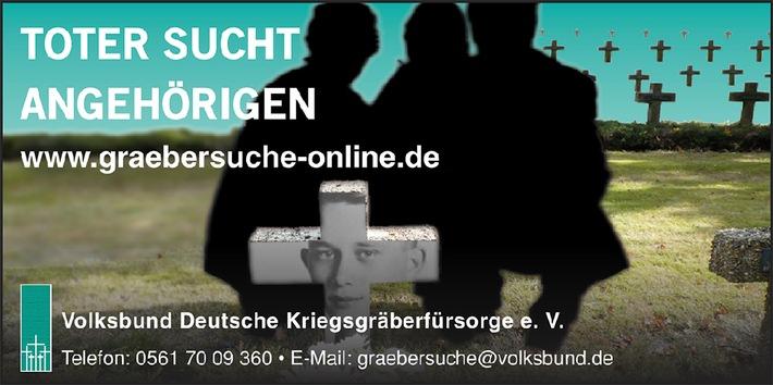 """Epilog des Krieges: Fünf Millionen registrierte Kriegstote und die Suche nach Angehörigen / Volksbund startet Aktion """"Toter sucht Angehörigen"""""""