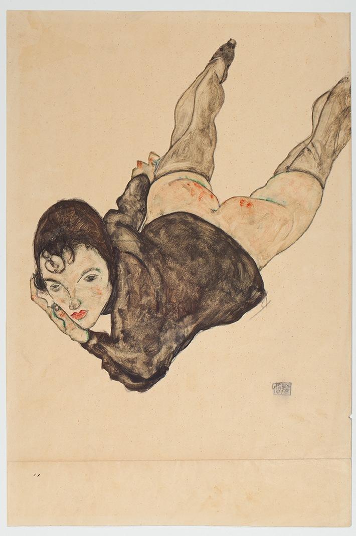 """Auctionata bricht Online-Rekord: Egon Schieles """"Liegende Frau"""" für EUR 1,8 Millionen live versteigert"""
