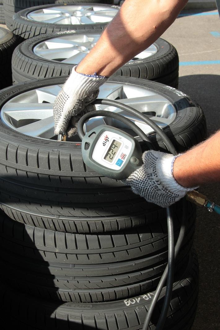 TCS Reifentest: Bewertung von 33 Sommerreifen