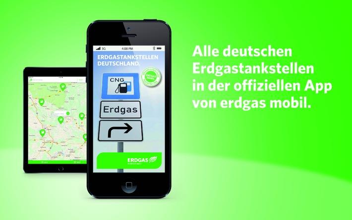 Offizielle Erdgastankstellen-App von erdgas mobil: neue Funktionen, aktualisiertes Design und nun auch für Android