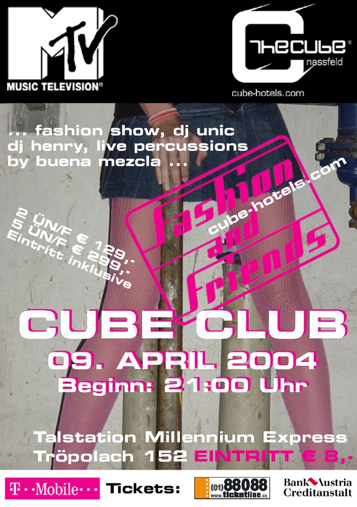 MTV Fashion & Friends Show am 09.04.2004 zu Gast @ The Cube Nassfeld
