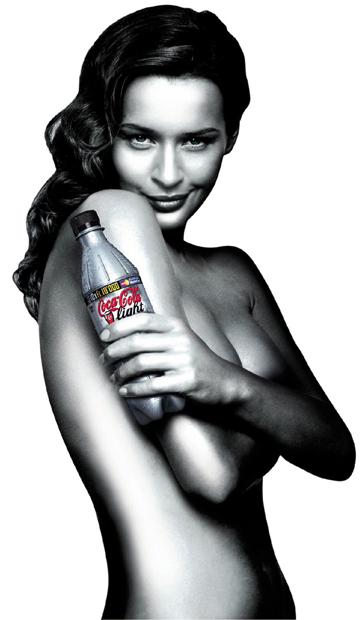 Coca-Cola light et son look argent: Début de Coca-Cola light Silver Bottle Promotion