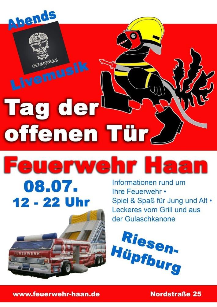 FW-HAAN: Tag der offenen Tür bei der Feuerwehr Haan am 8. Juli