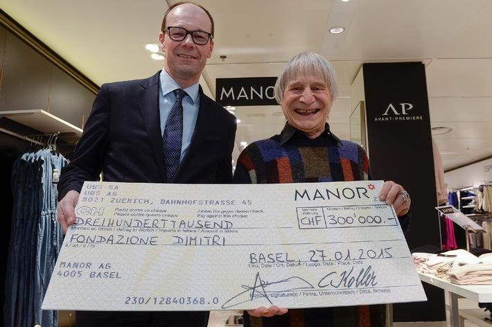 Manor : l'operazione caritativa di Natale raccoglie 300 000 franchi per la Fondazione Dimitri