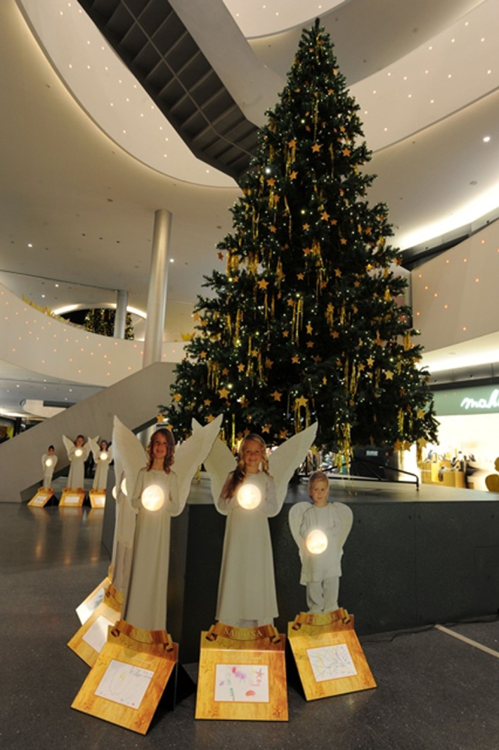 Lichterglanz und Engel: Weihnachten in Sihlcity