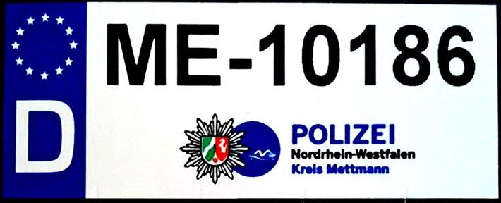 BlockIT-Aufkleber zur Fahrrad-Codierung der Kreispolizeibehörde Mettmann