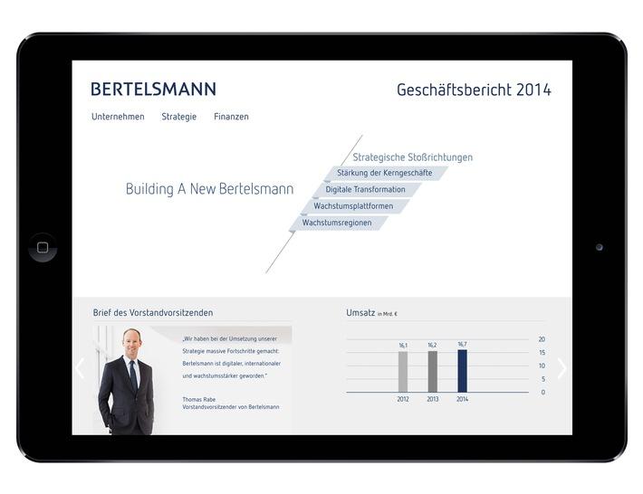 Bertelsmann informiert multimedial über strategische Fortschritte