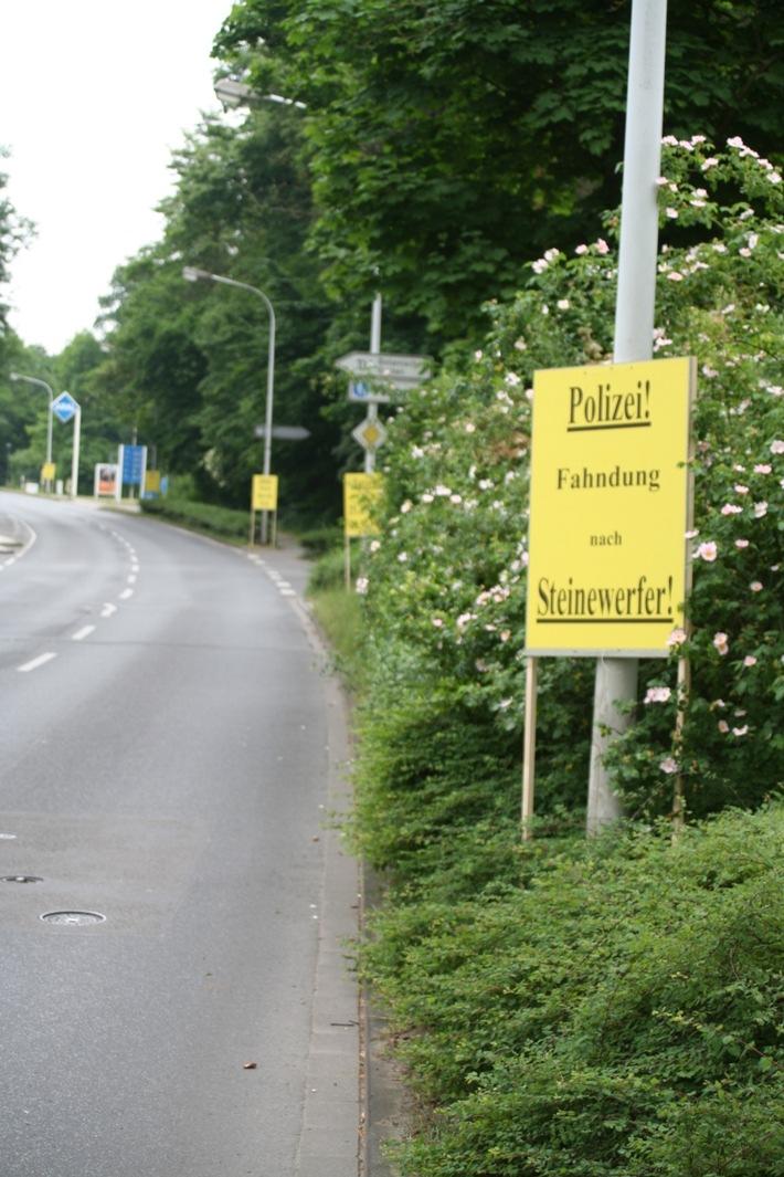 POL-DA: Darmstadt:  Polizei sucht weiter nach Hinweisen zum Steinewerfer / Öffentlichkeitsfahndung mit Plakatständern / Wichtiger Zeuge soll sich melden / 5.000,- EUR Belohnung