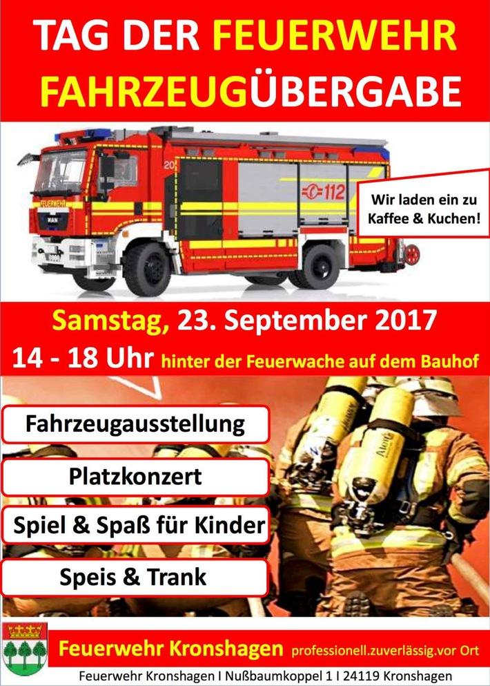 Tag der Feuerwehr mit Fahrzeugübergabe