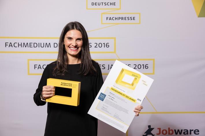 """Jelena Juric ist """"Fachjournalistin des Jahres 2016"""""""