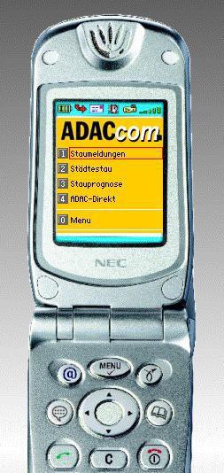 Mobile Telematikdienste / Mehr Verkehrsinfos mit neuem GPRS-Service / Der ADAC ist jetzt auch via i-mode erreichbar