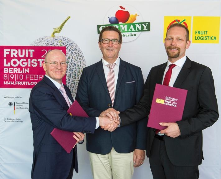 Deutschland ist im Jubiläumsjahr Partnerland der FRUIT LOGISTICA 2017