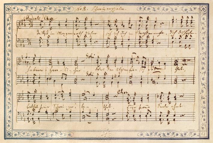 Schweizerische Nationalbibliothek: Das Manuskript des Schweizer Psalms ist online