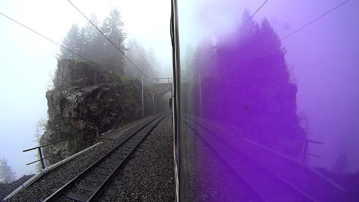 Neue Sonderausstellung im Bahnmusuem Albula «My first sonic Lok» / Performance und Ausstellungseröffnung von Andy Guhl, 1. September 2013, 15 Uhr