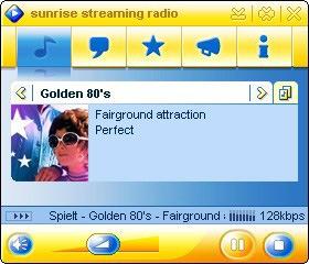 Ecouter de la musique en travaillant: Nouveau mediaplayer gratuit sur sunrise ADSL world