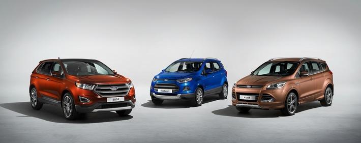 Europäische Version des Ford Edge debütiert auf der IAA - Ford will mit SUVs und Allradoptionen weiter wachsen