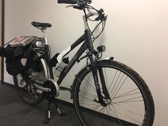 Bonn-Vilich:Wer Hinweise zu dem Eigentümer des E-Bikes, Diamant Typ Zouma, geben kann, wird gebeten mit dem Kriminalkommissariat 35 Kontakt aufzunehmen. Rufnummer 0228/150.