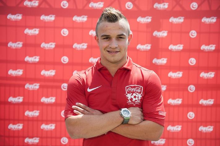 Xherdan Shaqiri kommt ans Final-Wochenende der Coca-Cola Junior League / Zehn Jahre Coca-Cola Junior League (BILD)