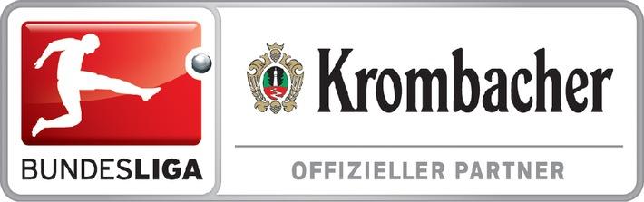 """Krombacher Brauerei verlängert Vertrag mit der Deutschen Fußball Liga um vier weitere Jahre und bleibt """"Offizieller Partner der Bundesliga"""""""