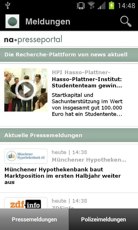 Presseportal.de jetzt auch als Android-App / dpa-Tochter news aktuell baut Präsenz im mobilen Web aus