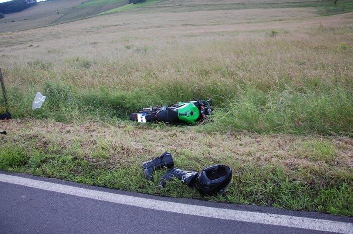 POL-PPWP: Motorradfahrer bei Verkehrsunfall schwer verletzt