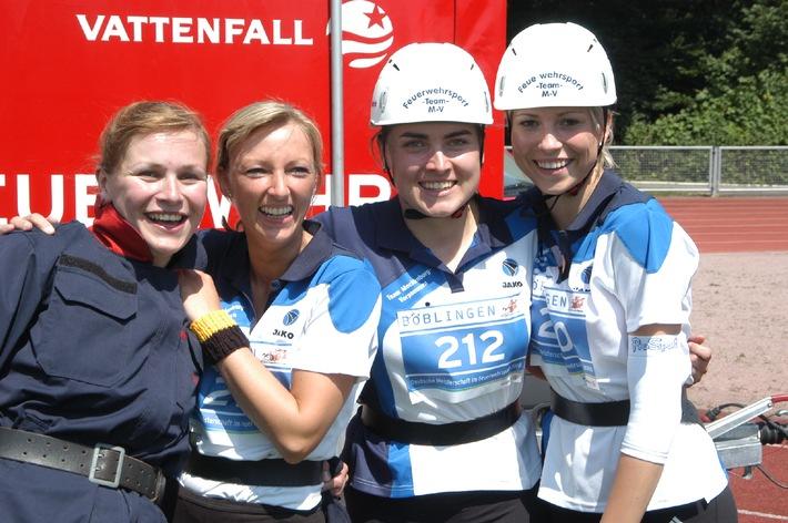 In Böblingen purzeln die Feuerwehr-Rekorde / Deutsche Meisterschaften mit drei neuen Bestzeiten im Sportwettbewerb