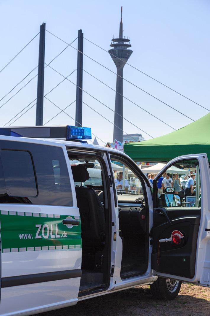 Zoll feiert mit beim 70. Geburtstag von NRW - Hauptzollamt Düsseldorf präsentiert  Zoll von Nord bis Süd beim Bürgerfest