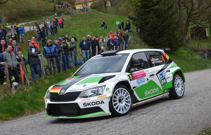 Kreim/Christian wollen bei der Heim-Rallye von SKODA AUTO Deutschland den Sieg