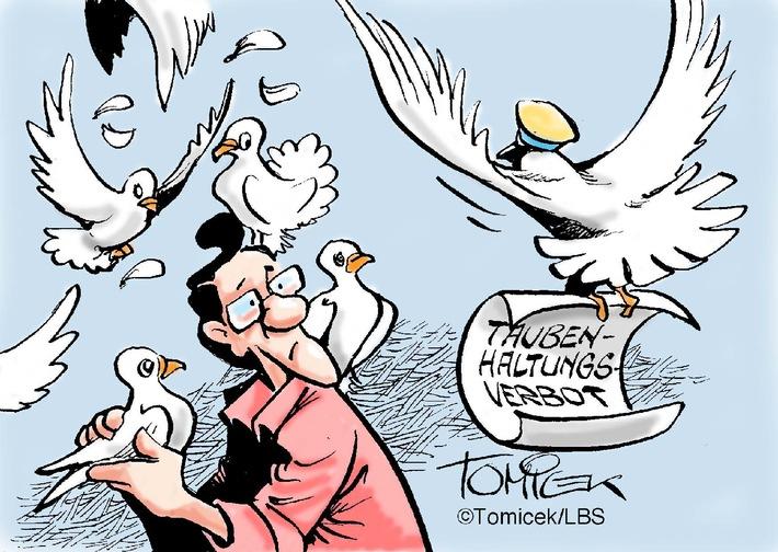 60 Tauben sind zu viel / Im Wohngebiet führt das zu unzumutbaren Belästigungen