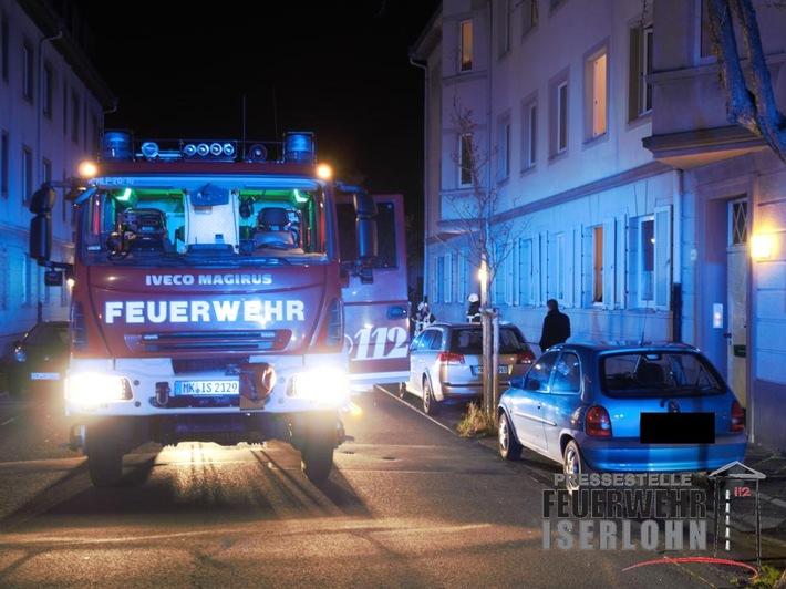 FW-MK: Feuerwehr findet leblose Person in der Wohnung