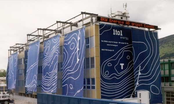 BKW FMB Energie SA et Expo.02 - De l'eau et du vent à l'entrée de l'arteplage de Bienne