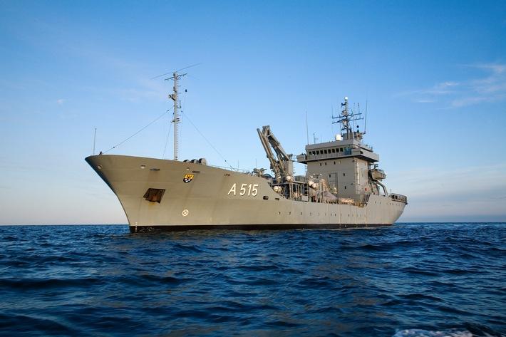 """Tender """"Main"""" kehrt nach EU-Einsatz im Mittelmeer zurück nach Eckernförde"""