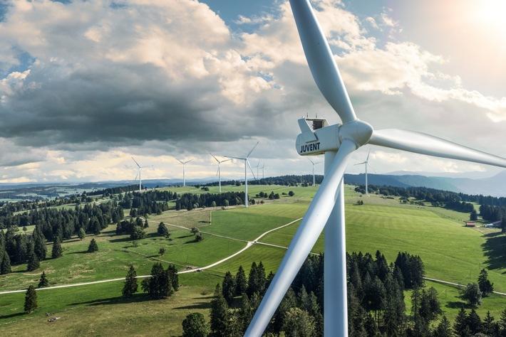 Repowering Windpark JUVENT: Die vier neuen Windturbinen sind in Betrieb