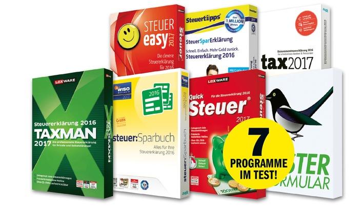 COMPUTER BILD Steuersoftware-Test: Teure Programme vor Billig-Konkurrenz