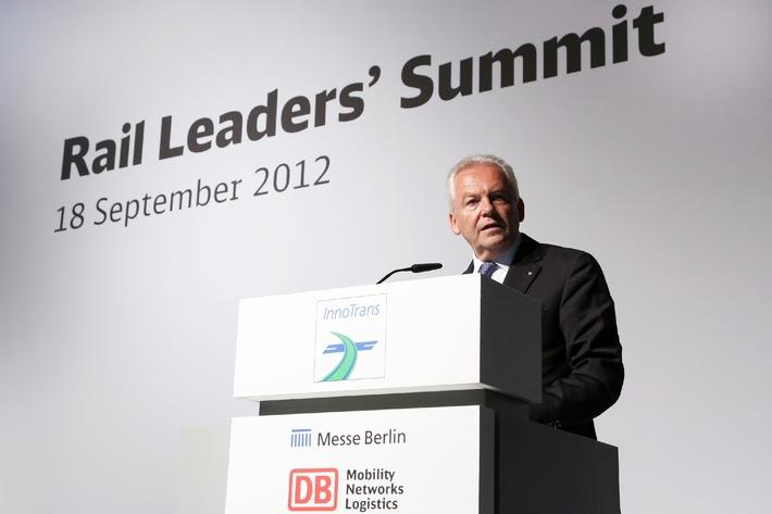 Rail Leaders' Summit: Internationaler Dialog über Entwicklungen im weltweiten Eisenbahnsektor auf der InnoTrans 2014 in Berlin