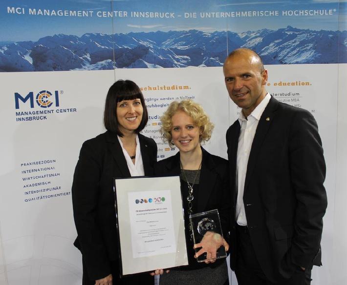 MCI-Studentin gewinnt ITB Wissenschaftspreis 2013