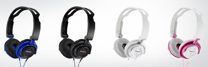 Passt in jede Jackentasche: Street-Kopfhörer DJS150 von Panasonic / Der faltbare On-Ear-Kopfhörer lässt sich komfortabel überall mit hinnehmen - die perfekte Begleitung für unterwegs