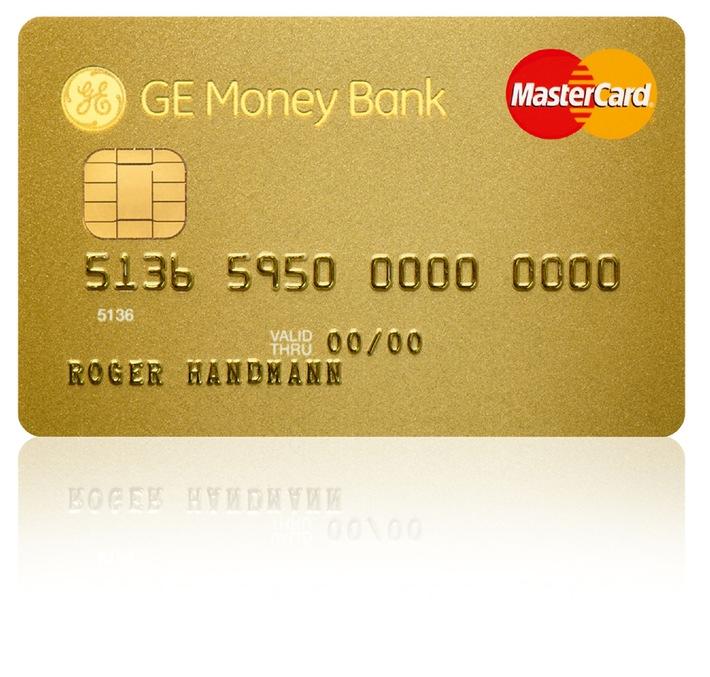 GE Money Bank lanciert MasterCard Gold- und Silber-Kreditkarten