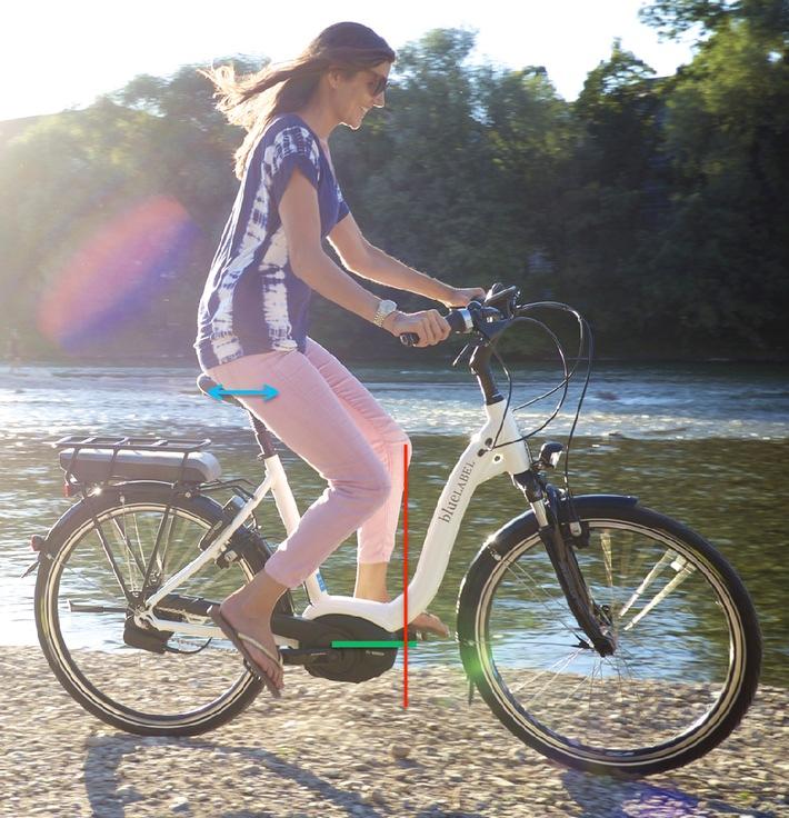 Durch Radfahren den Rücken stärken: Fast alles Einstellungssache