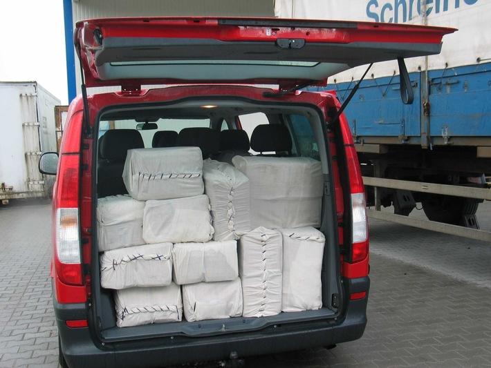 BKA: BKA und Staatsanwaltschaft Frankfurt am Main teilen mit:  Erneuter Schlag gegen international organisierten Rauschgifthandel: BKA stellt 750 Kilogramm Haschisch sicher