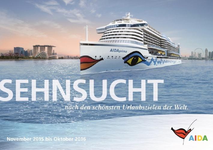 AIDA mit neuem Katalog und spannenden Routen: Kreuzfahrten bis April 2017 buchbar