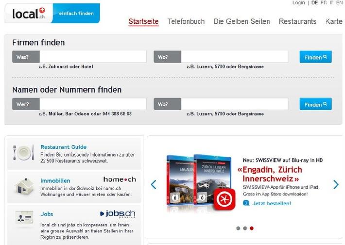 local.ch mit neuem Rekord