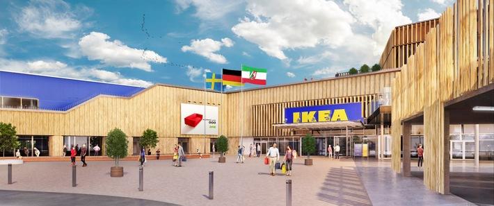 Umweltschonende Konzepte, natürliche Materialien und viel Tageslicht: Richtfest für das weltweit nachhaltigste IKEA Haus