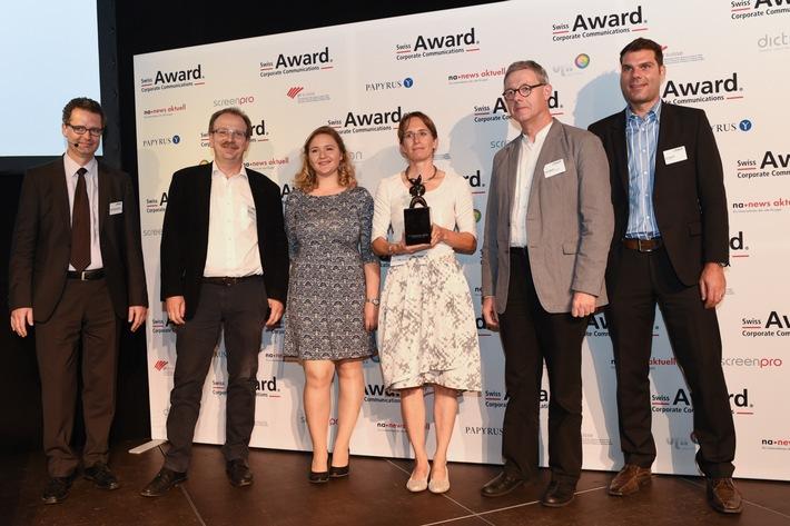 Swiss Award Corporate Communications: Von den sechs nominierten Projekten erhielten zwei die begehrte Award-Trophäe