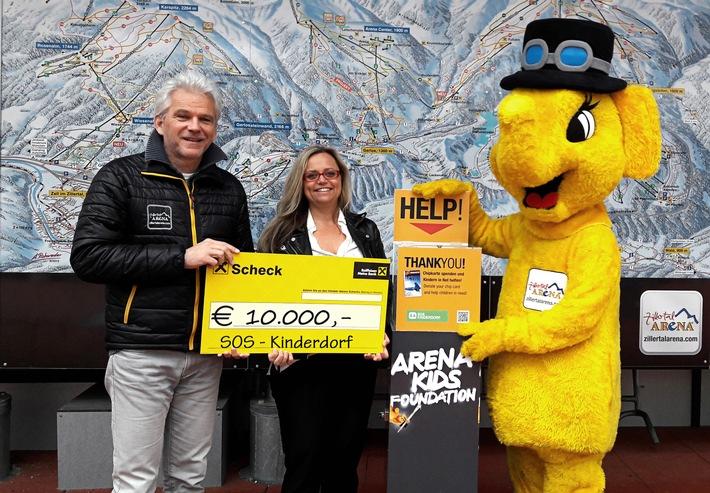 Zillertal Arena spendet EUR 10.000,- an SOS Kinderdorf