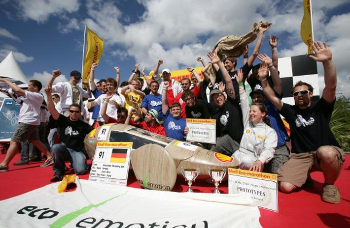 """Shell Eco-marathon 2008:  """"Der Weltrekord ist jetzt greifbar!"""""""