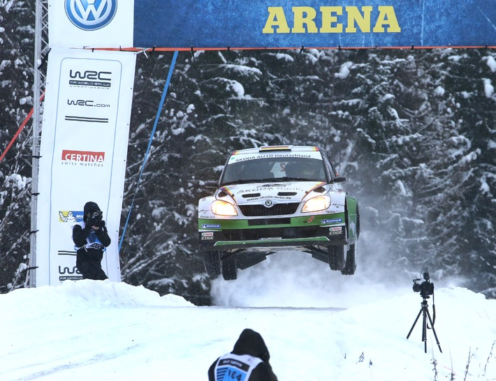 Starkes Schweden-Debüt: Wiegand/Christian holen in der WRC 2-Meisterschaft Platz drei