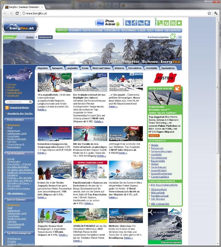 bergfex - Rekordwinter,  Entwicklungen & Trends - BILD