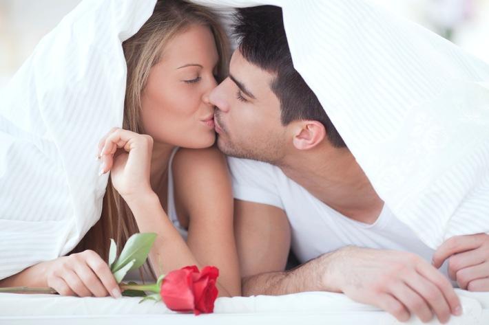 Gute Mundhygiene verschönert Küssen